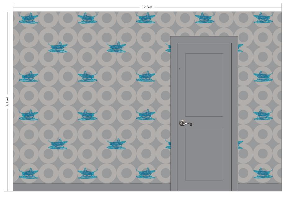 "MACCHIO cyan |Pattern Repeat: 32.5""w x 32.5""h"