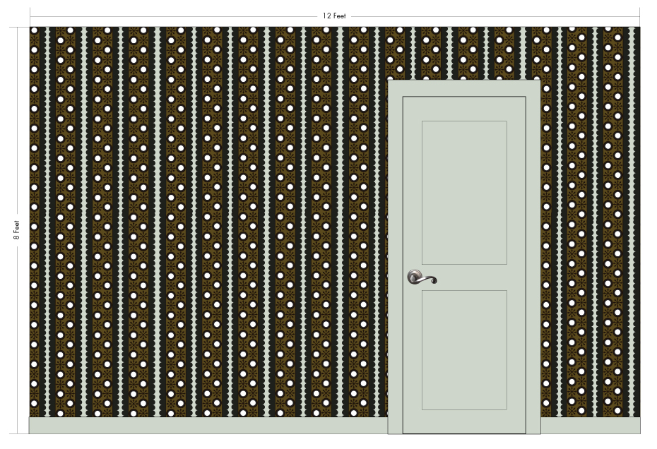 "OSCAR earth | Pattern Repeat: 8.75""w x 4.75""h"