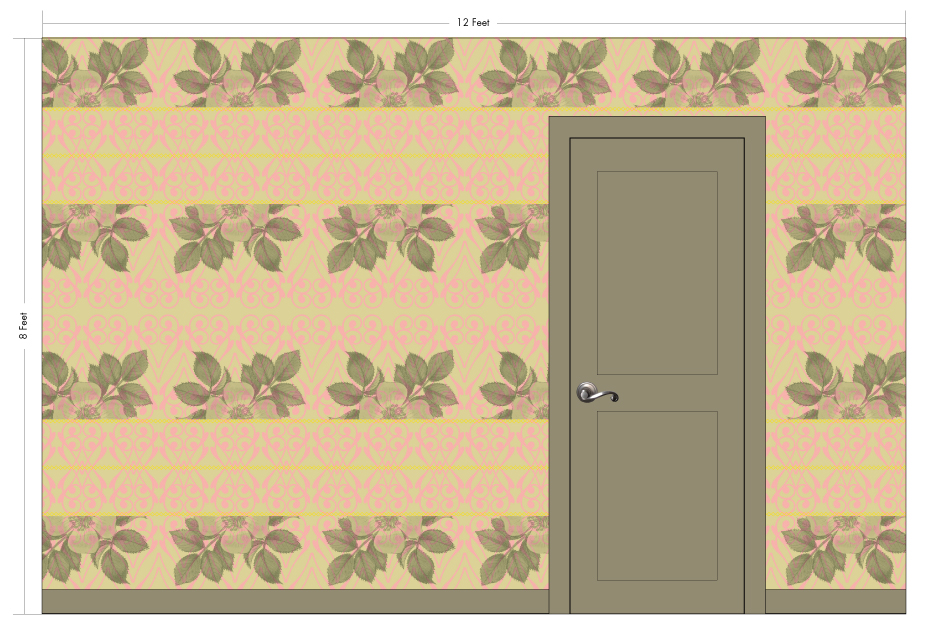 "ELEANOR desert | Pattern Repeat: 26""w x 54""h"