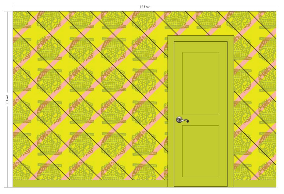 """TUTTI saffron   Pattern Repeat: 35.5""""w x 35.5""""h"""