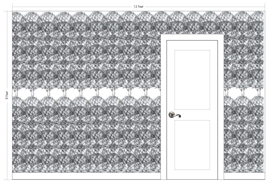 "BIG ARTIE white   Pattern Repeat: 52""w x 54""h"
