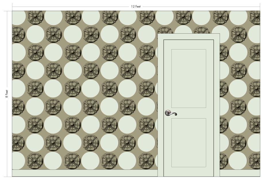 "AUGUSTUS truffle | Pattern Repeat: 22""w x 22""h"