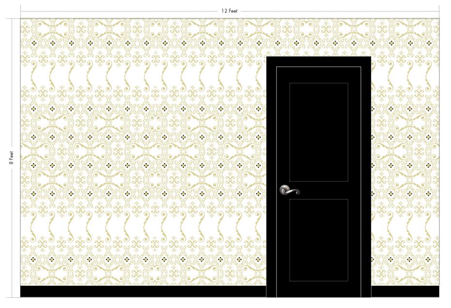 "FERN desert | Pattern Repeat: 20""w x 54""h"