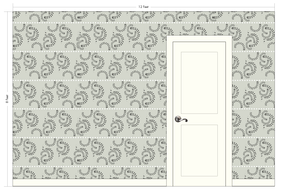 """ATHENA frost   Pattern Repeat: 19.25""""w x 16.75""""h"""
