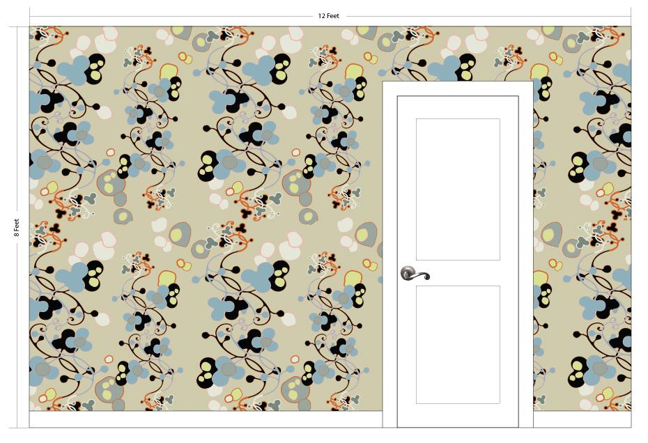 "ANDI charcoal | Pattern Repeat: 46.5""w x 52""h"