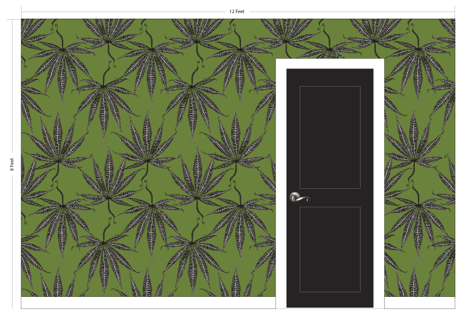"""MARY JANE grass   Pattern Repeat: 10.5""""w x 17.5""""h"""
