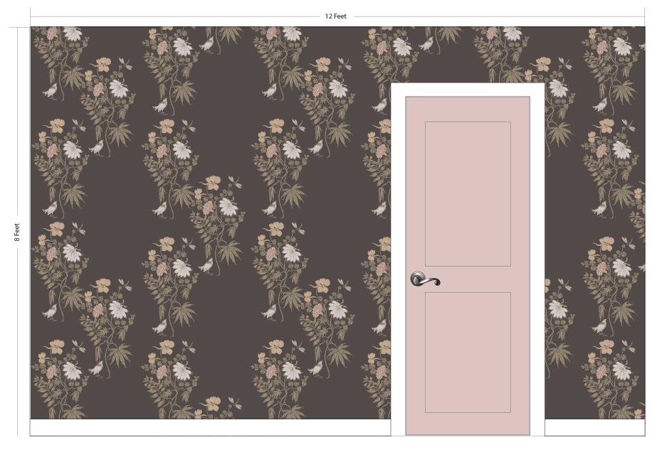 """PETAL pink   Pattern Repeat: 20""""w x 33""""h"""