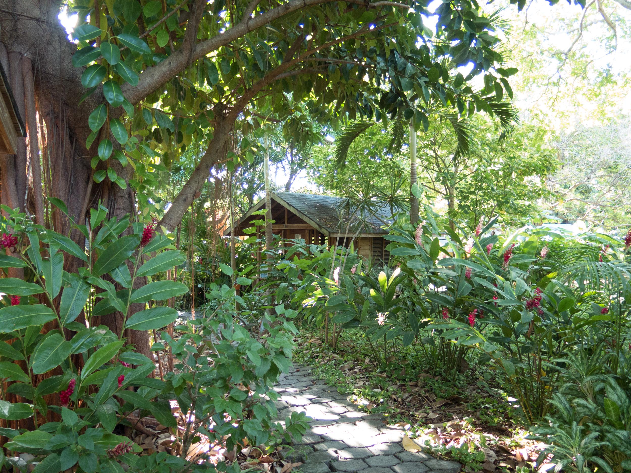 Cabin 4 across the garden