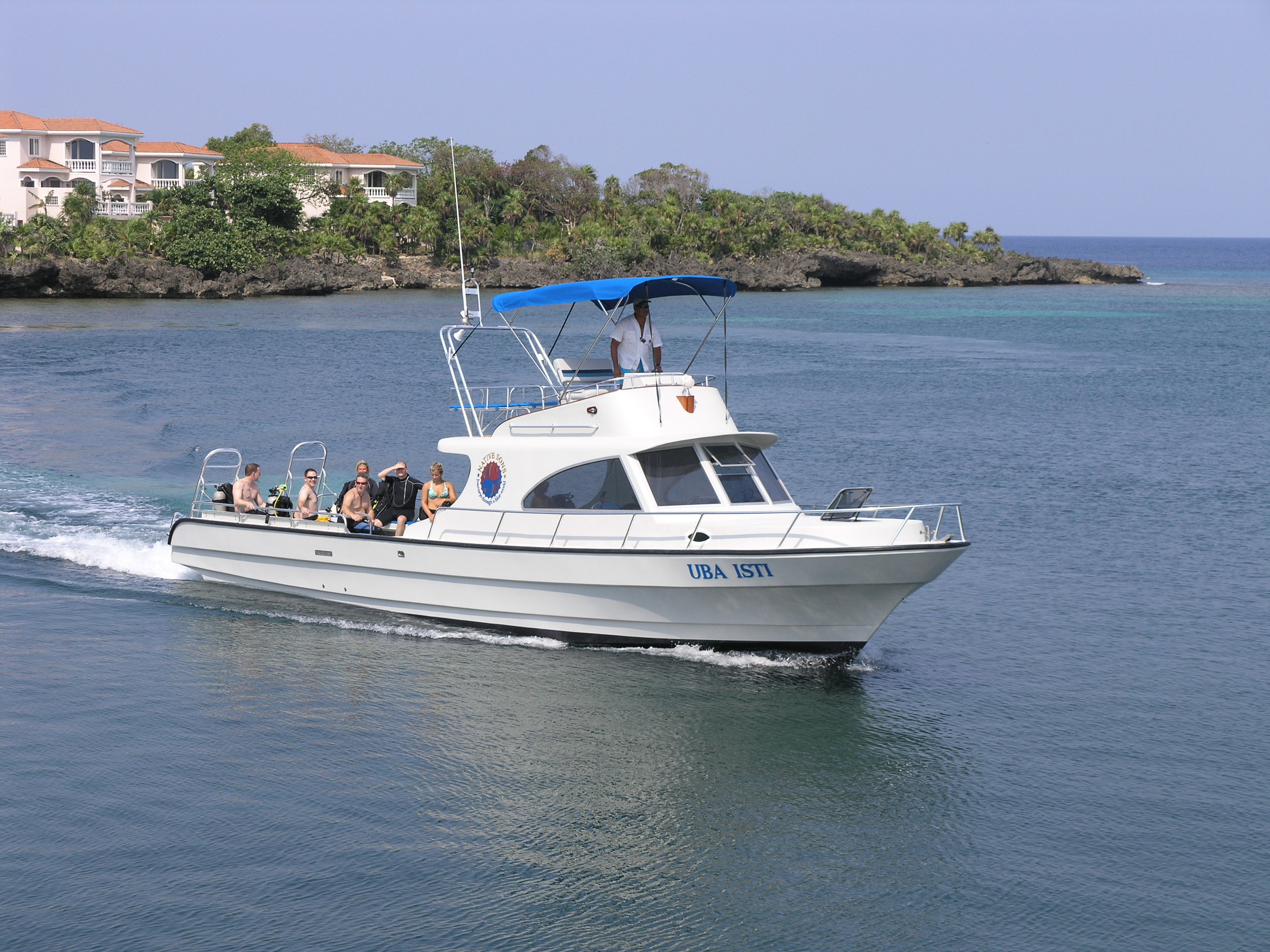 Our beautiful dive boat, the Uba Isti.