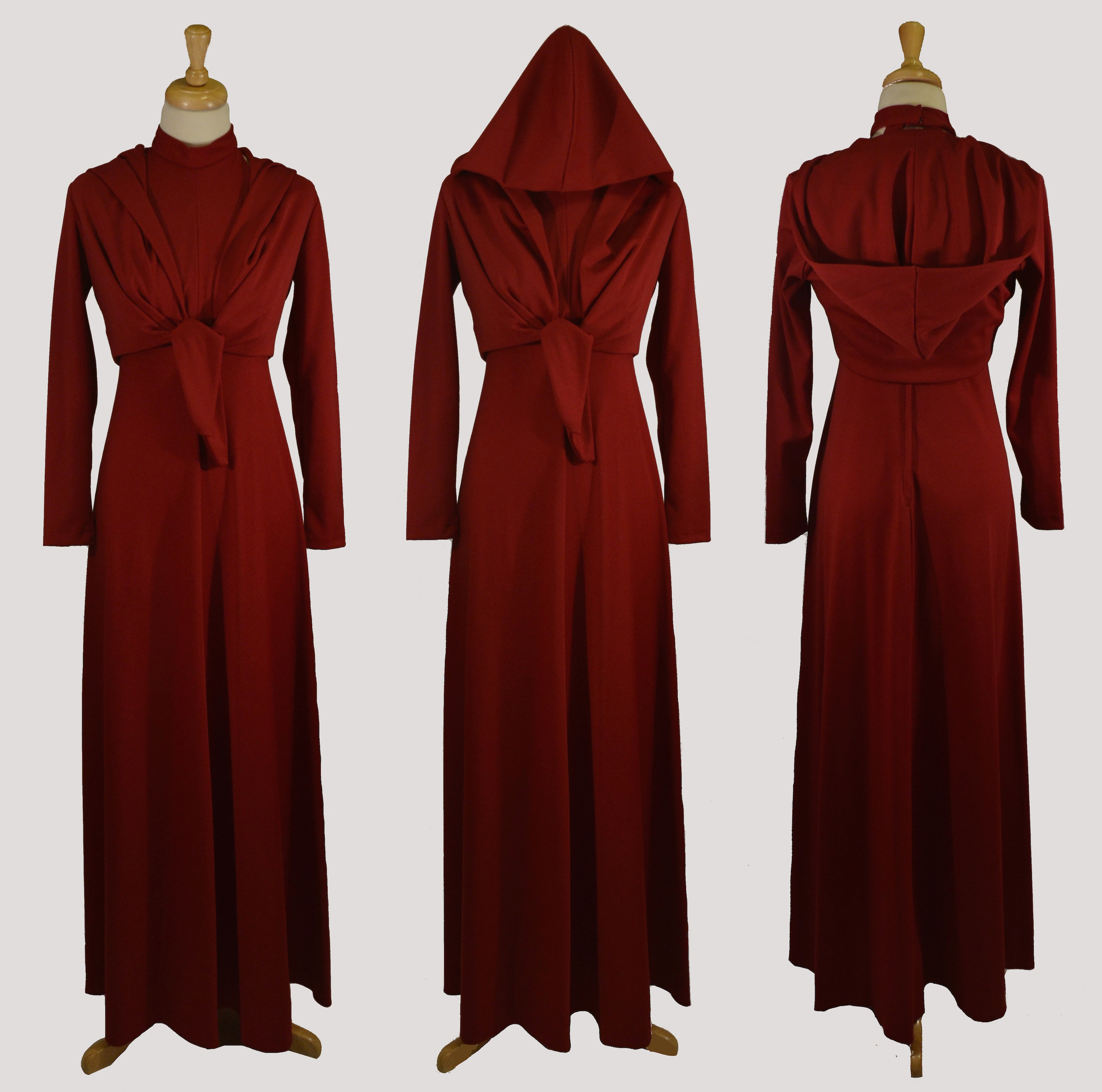 1970s Into the Woods Dress with Hooded Bolero