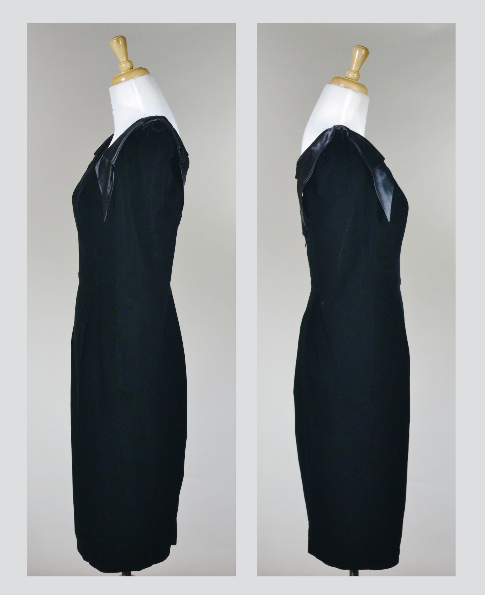 1980s Party Dress with Leaf Sleeve Detail