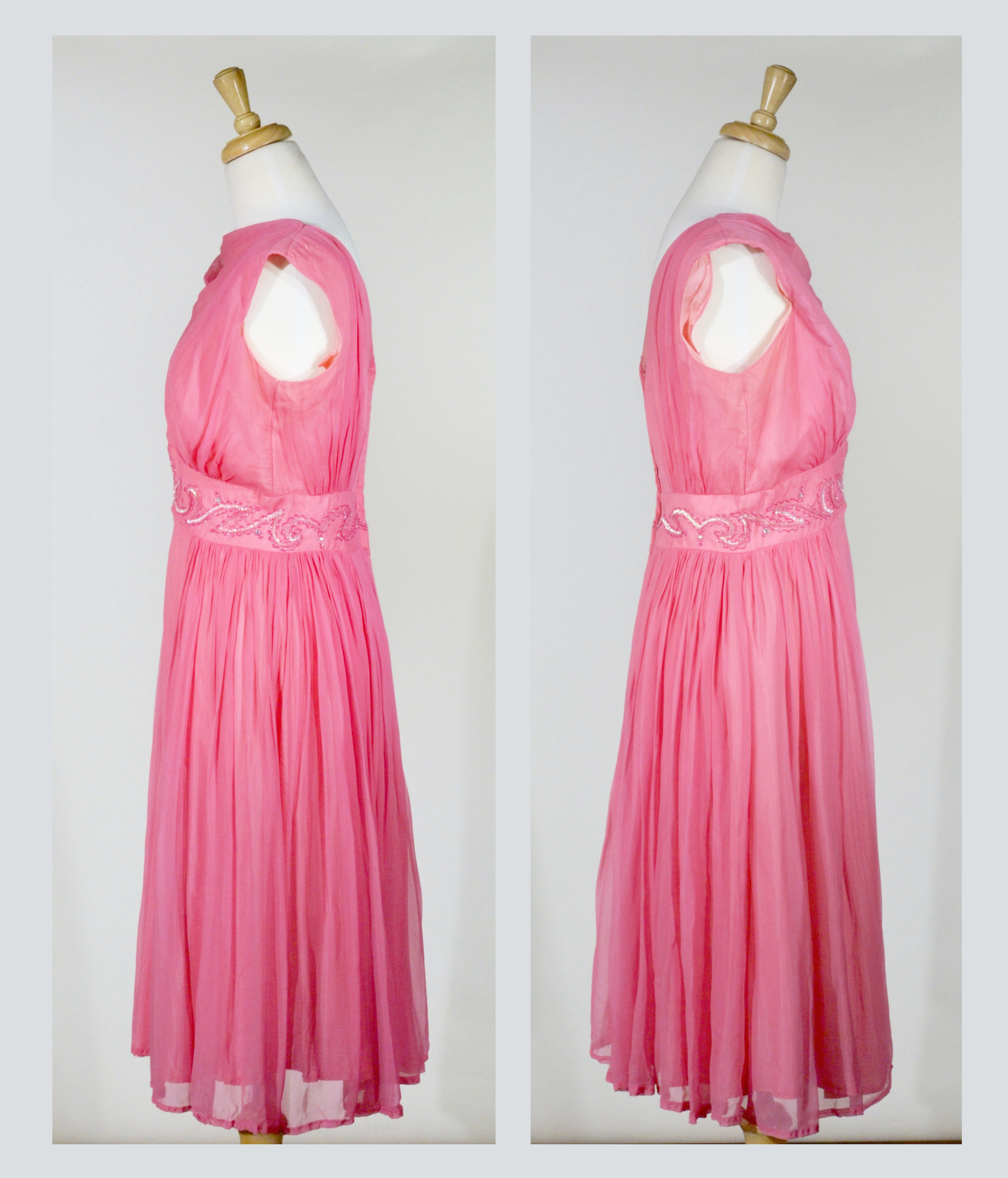 1960s Crepe and Sequin Cocktail Dress