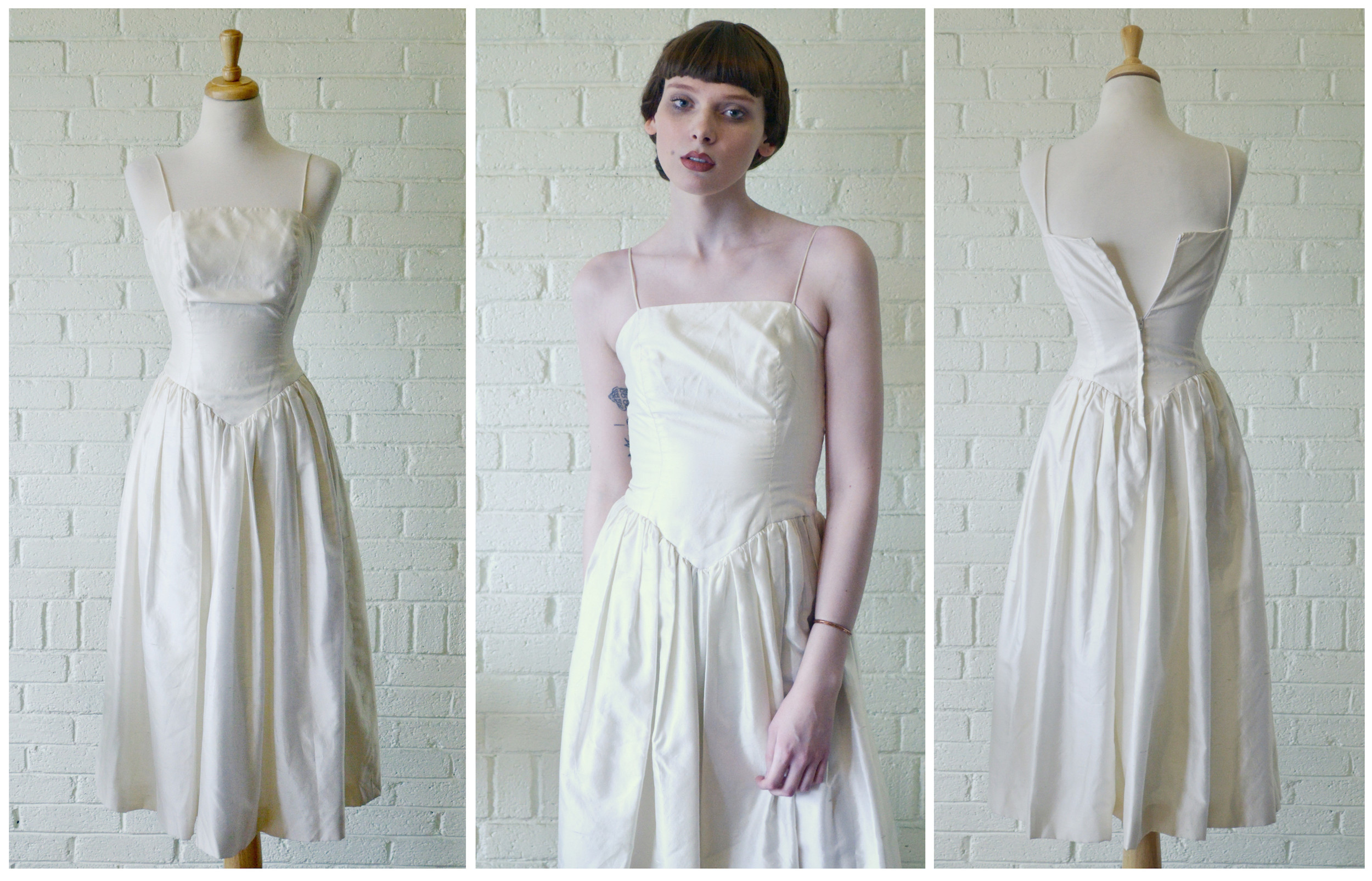 1980s Raw Silk Dress Fb.jpg