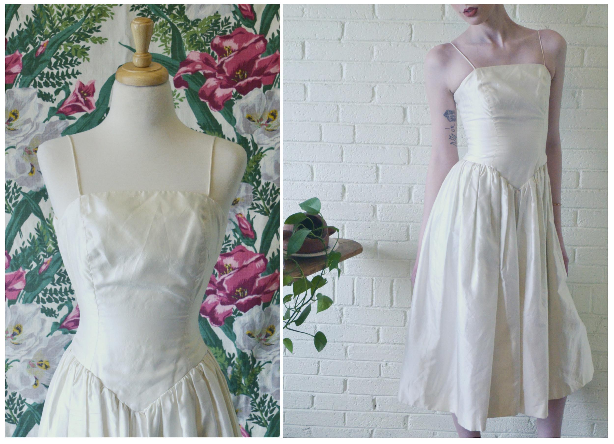 1980s Raw Silk Dress Detail.jpg