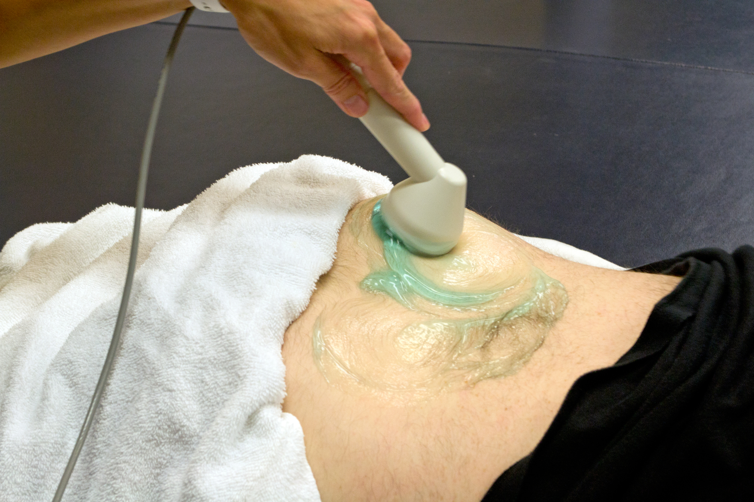 ultrasound treatment on lower back