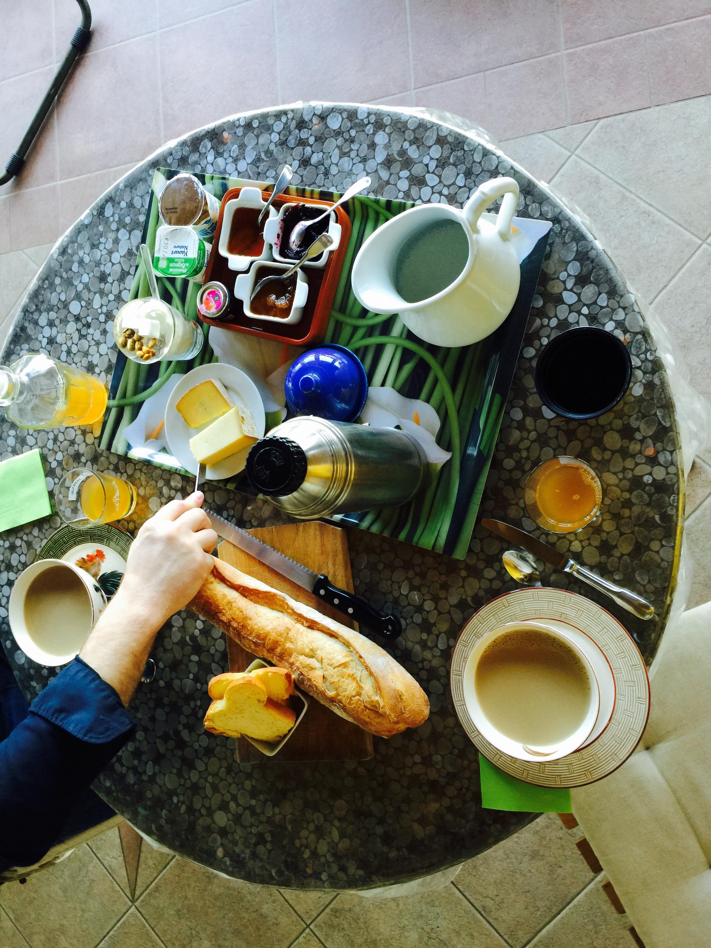 Le petit déjeuner!
