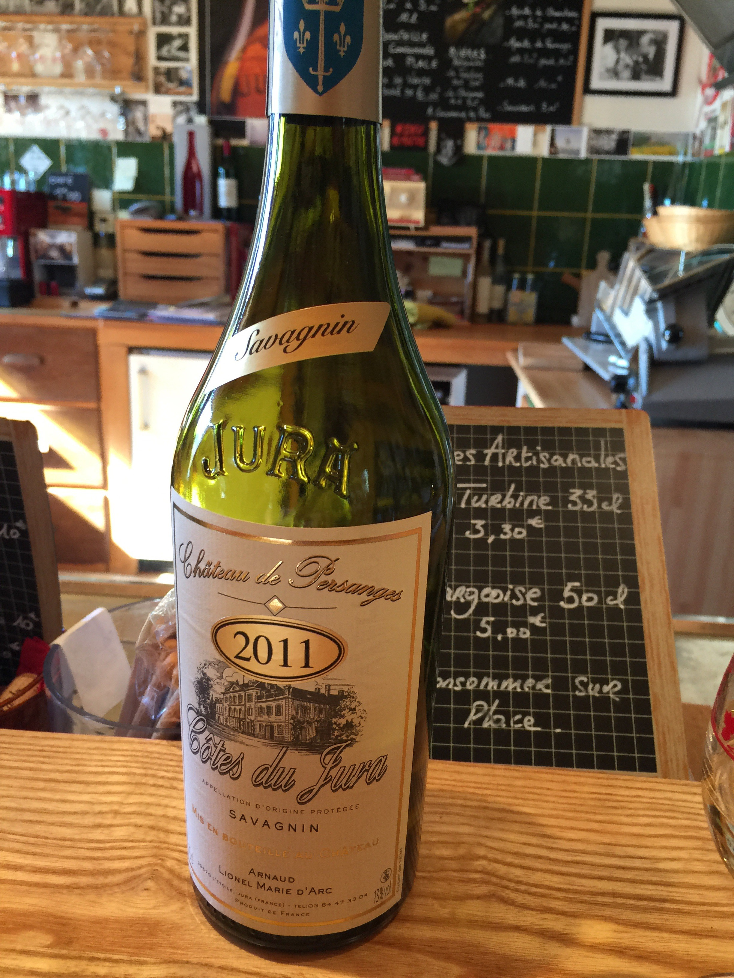 2011 Savagnin. A classic varietal from the Jura. Not to be confused with Sauvignon Blanc.