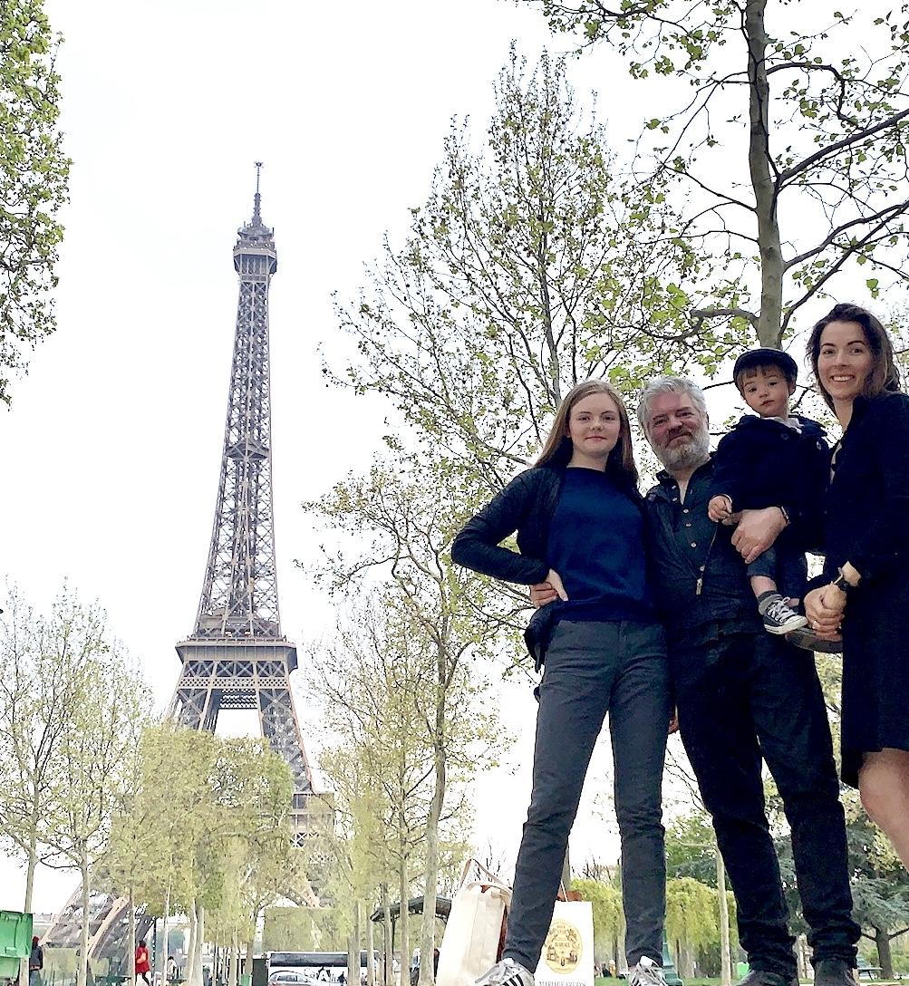 The obligatory Parisian family photo.