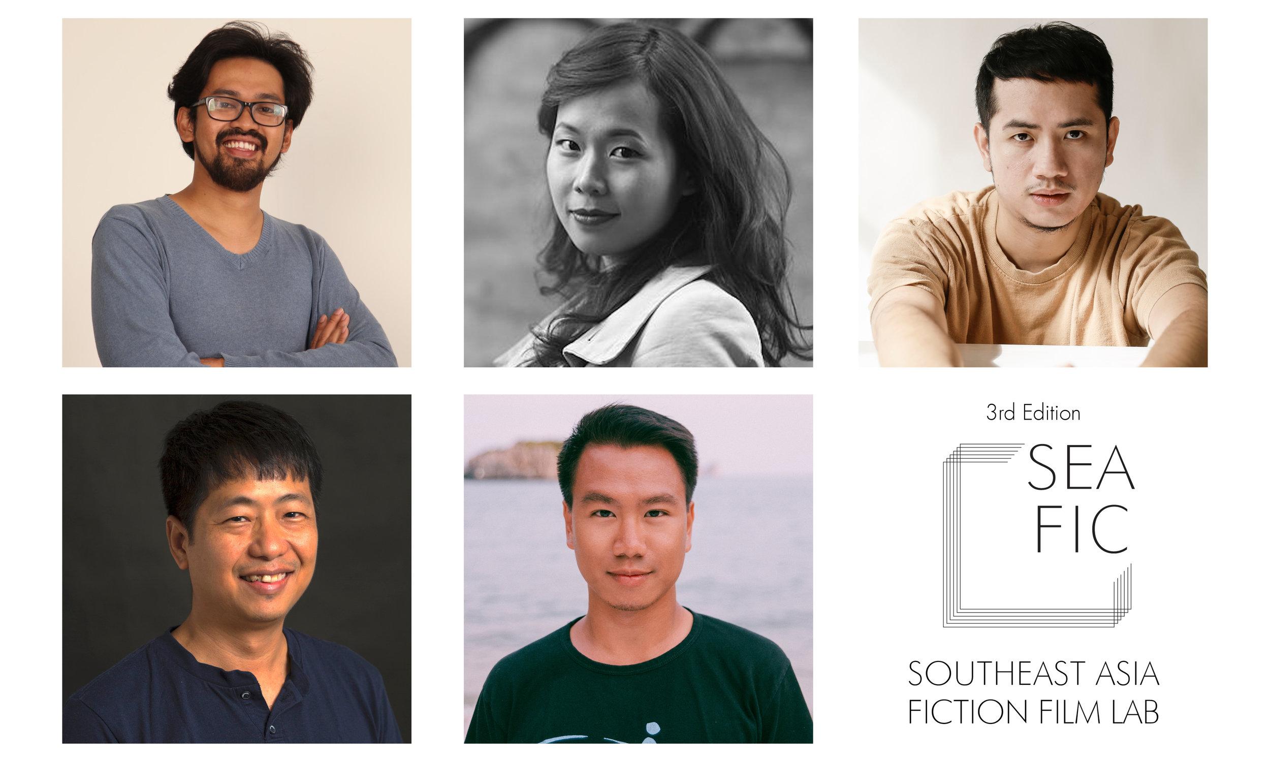 Top left: Makbul Mubarak, Top center: Ash Mayfair, Top right: Petersen Vargas, Bottom left: The Maw Naing, Bottom center: Nguyen Le Hoang Viet