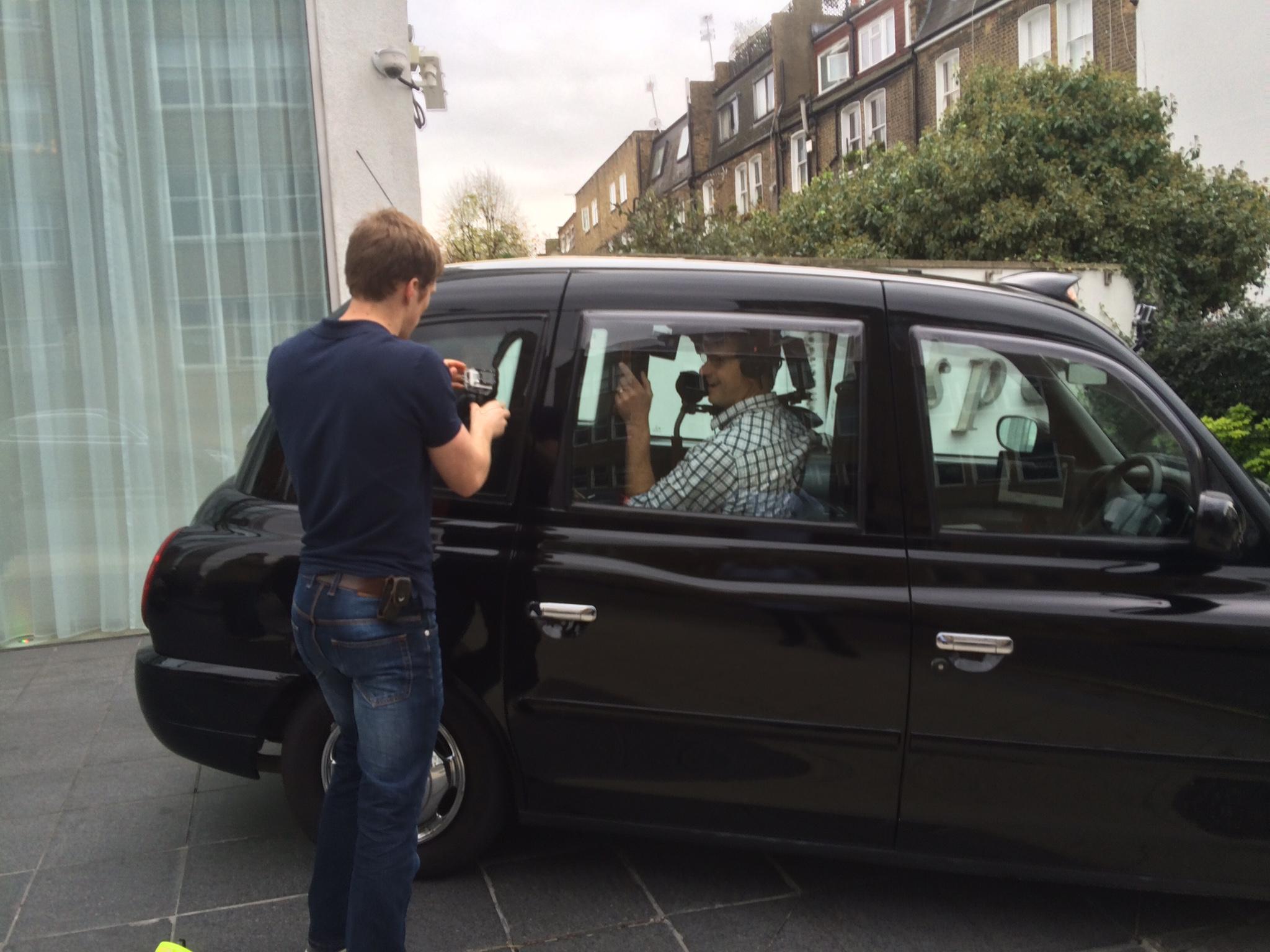 Black Cab filming