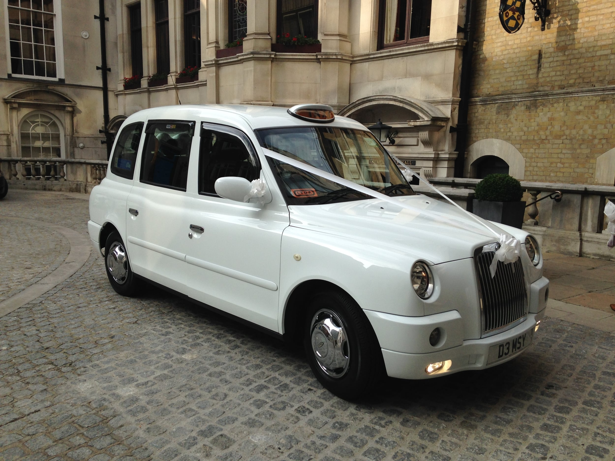 White Wedding London Cab