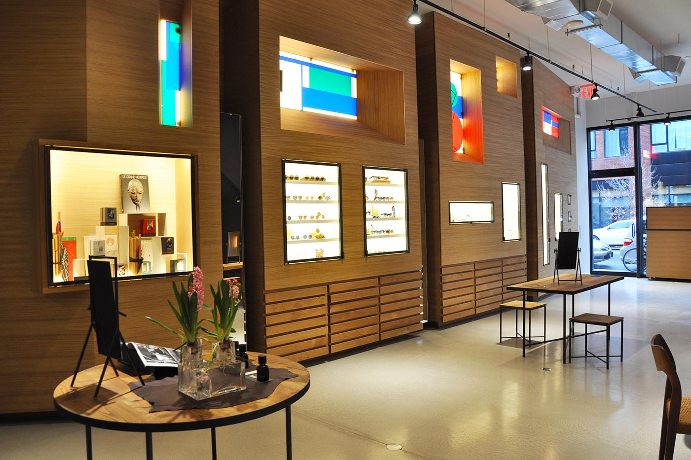 Optical shop Atelire Mira store interior - Williamsburg, Brooklyn