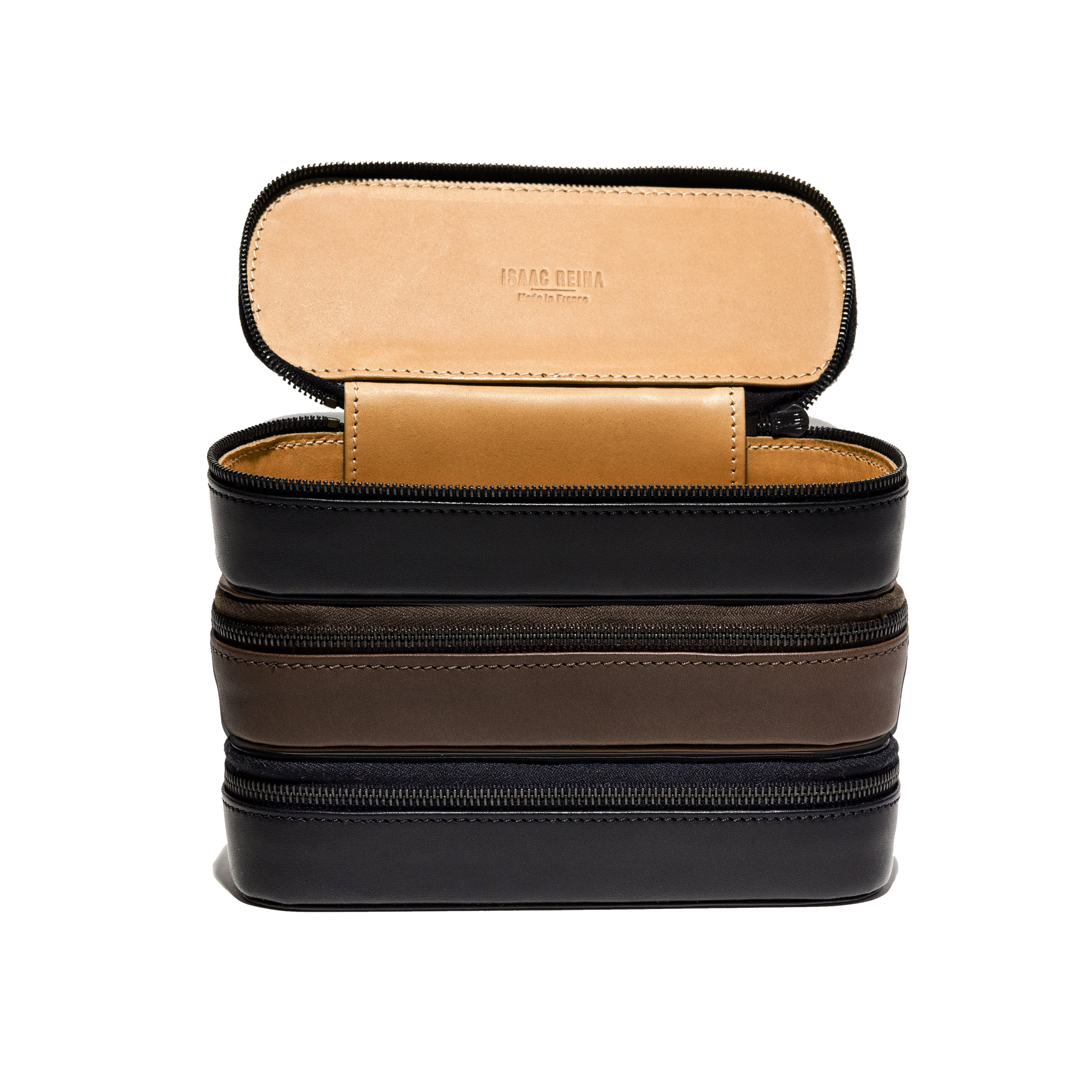 ISAAC REINA leather eyeglass case