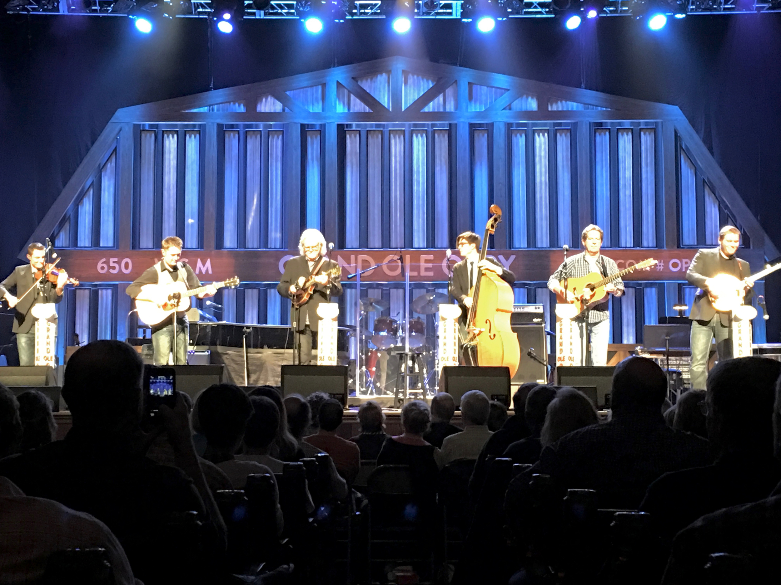 Jake debuting with Ricky Skaggs and Kentucky Thunder in the Ryman Auditorium for the Grand Ole Opry December 11th 2015.
