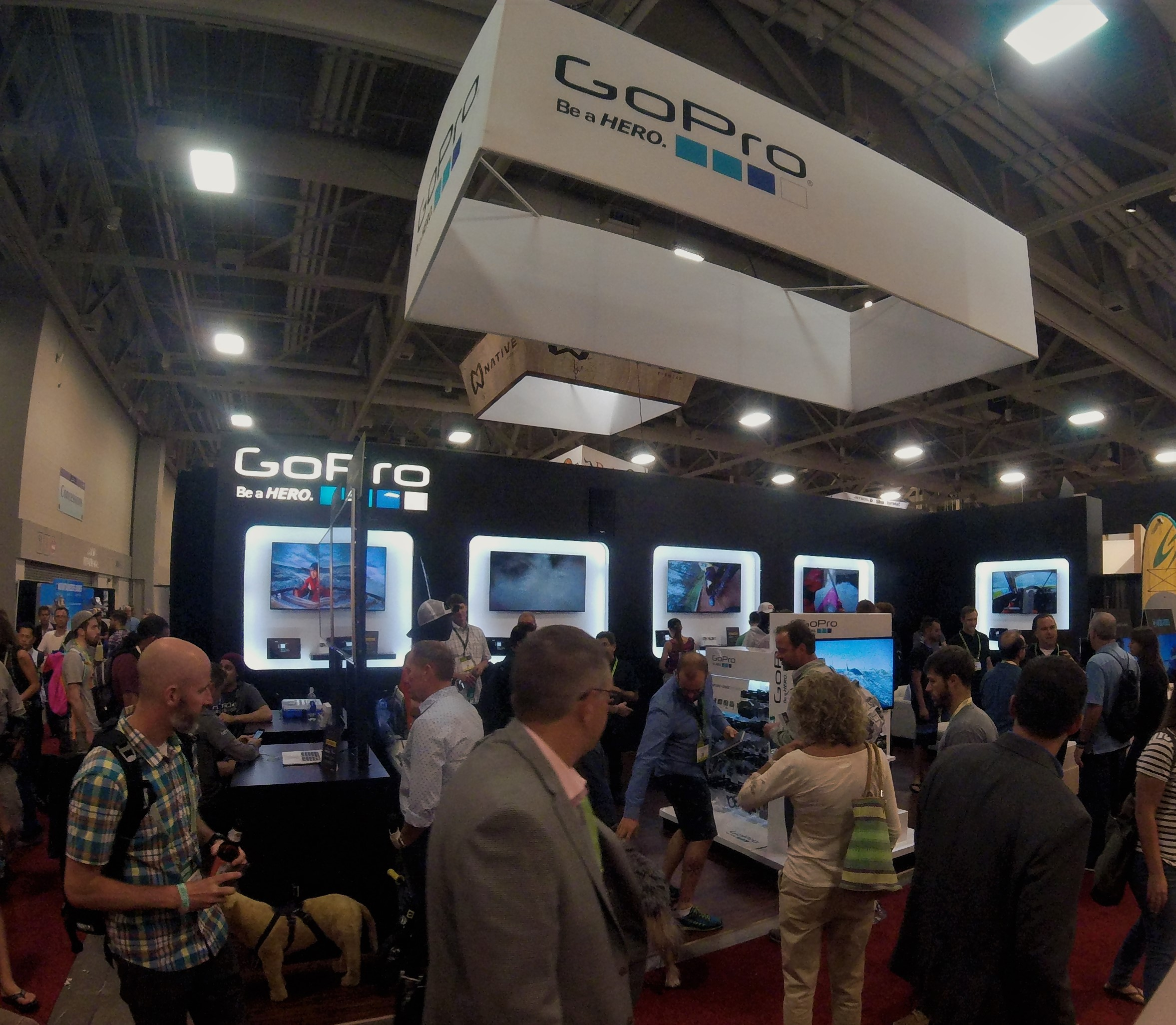 GoPro Booth stayed extremely busy with retailers checking out the new Hero4 Session.