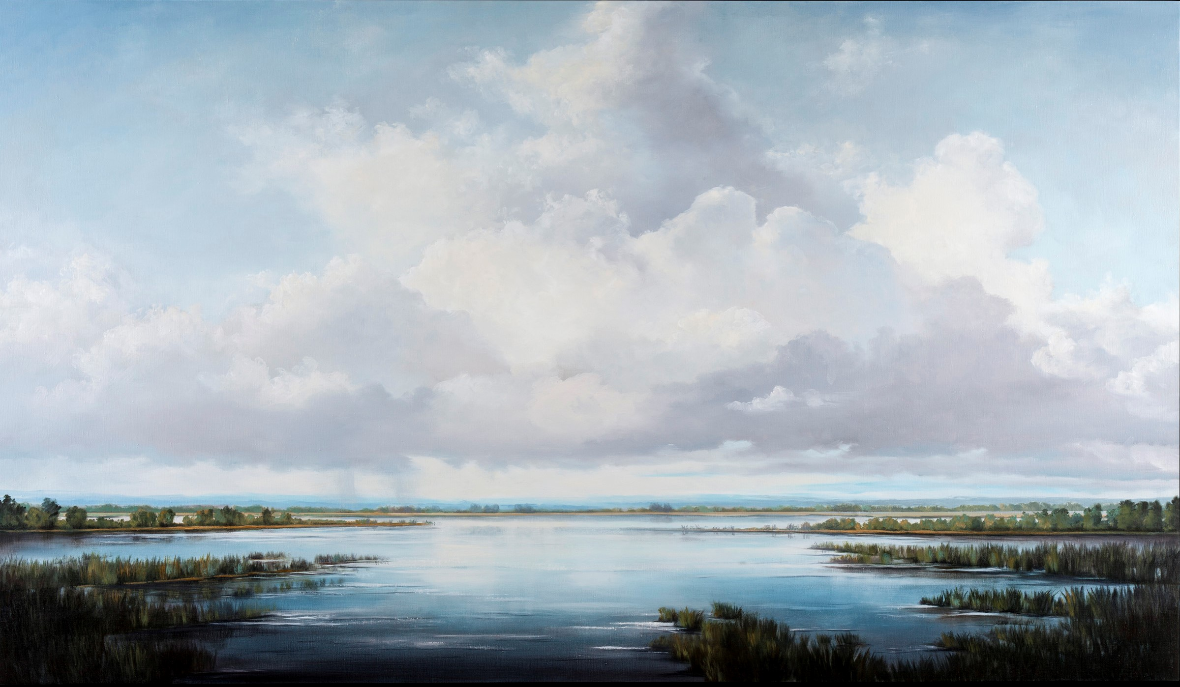 Victoria Adams 2016, 40x70, oil linen,s Calling on the Sky.jpg