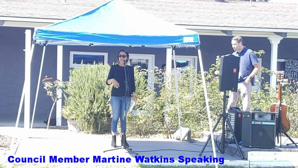 Council Member Martine Watkins, long time CPP member