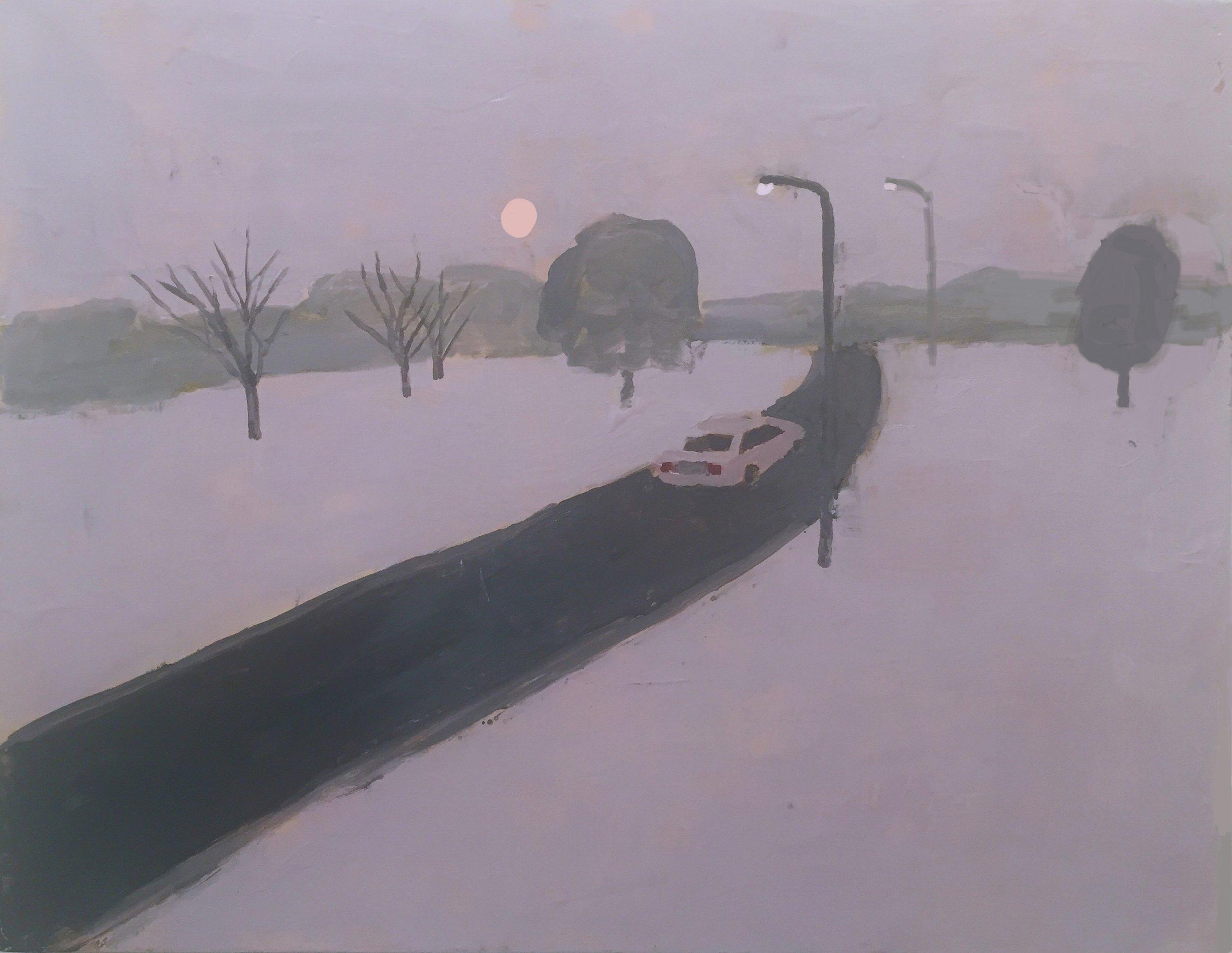 Road, snow