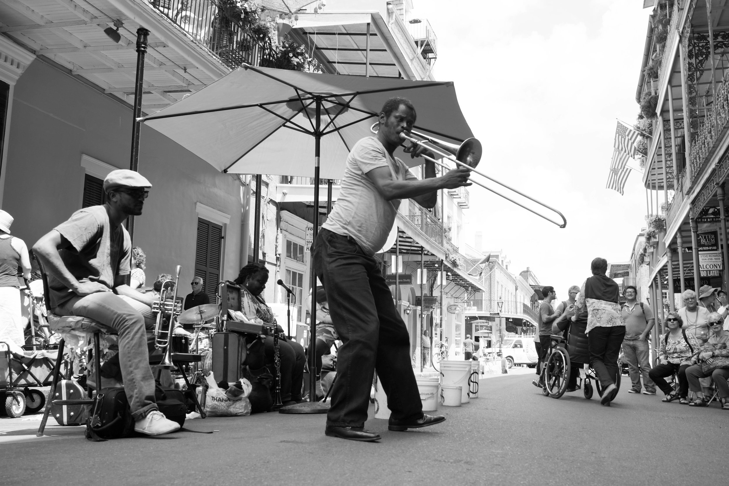 we hear music in New Orleans