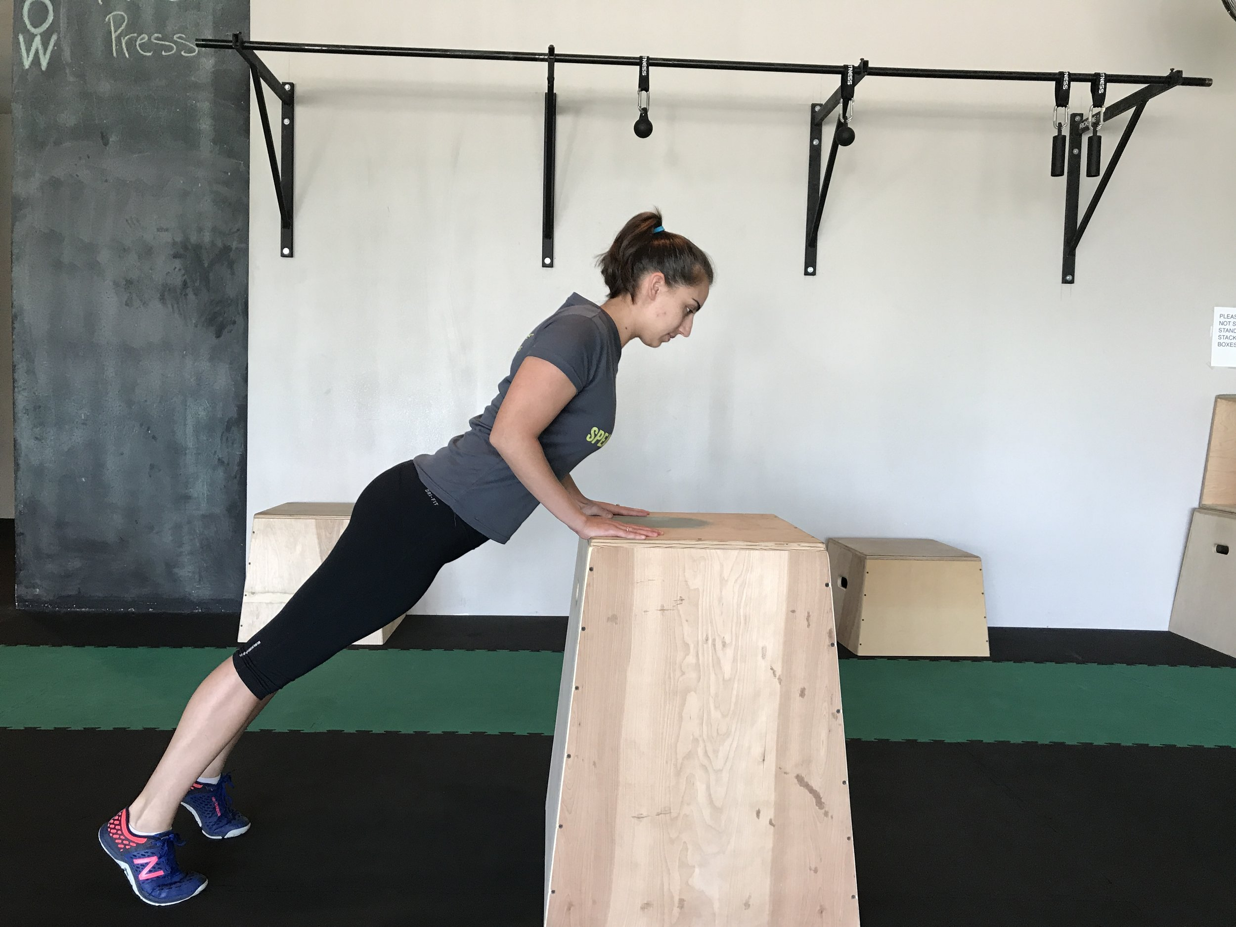 Elevated Tricep Push-ups
