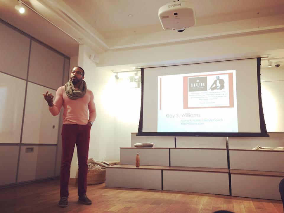 Author & Holistic Lifestyle Expert, Klay S. Williams at Lululemon's HUB Seventeen, New York City