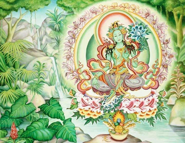 Green Tara    (artist unknown)