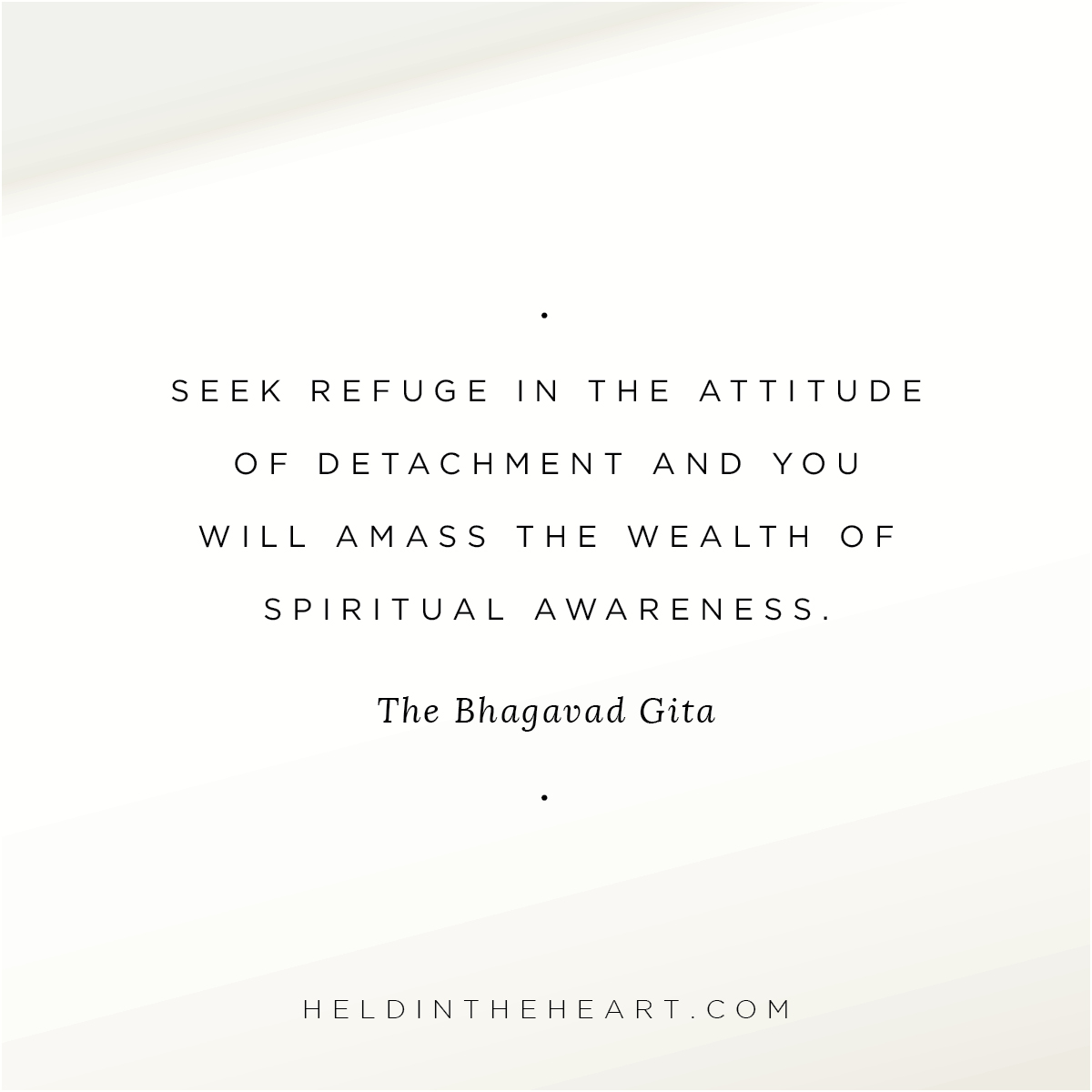 Bhagavad Gita Quote, Held In The Heart