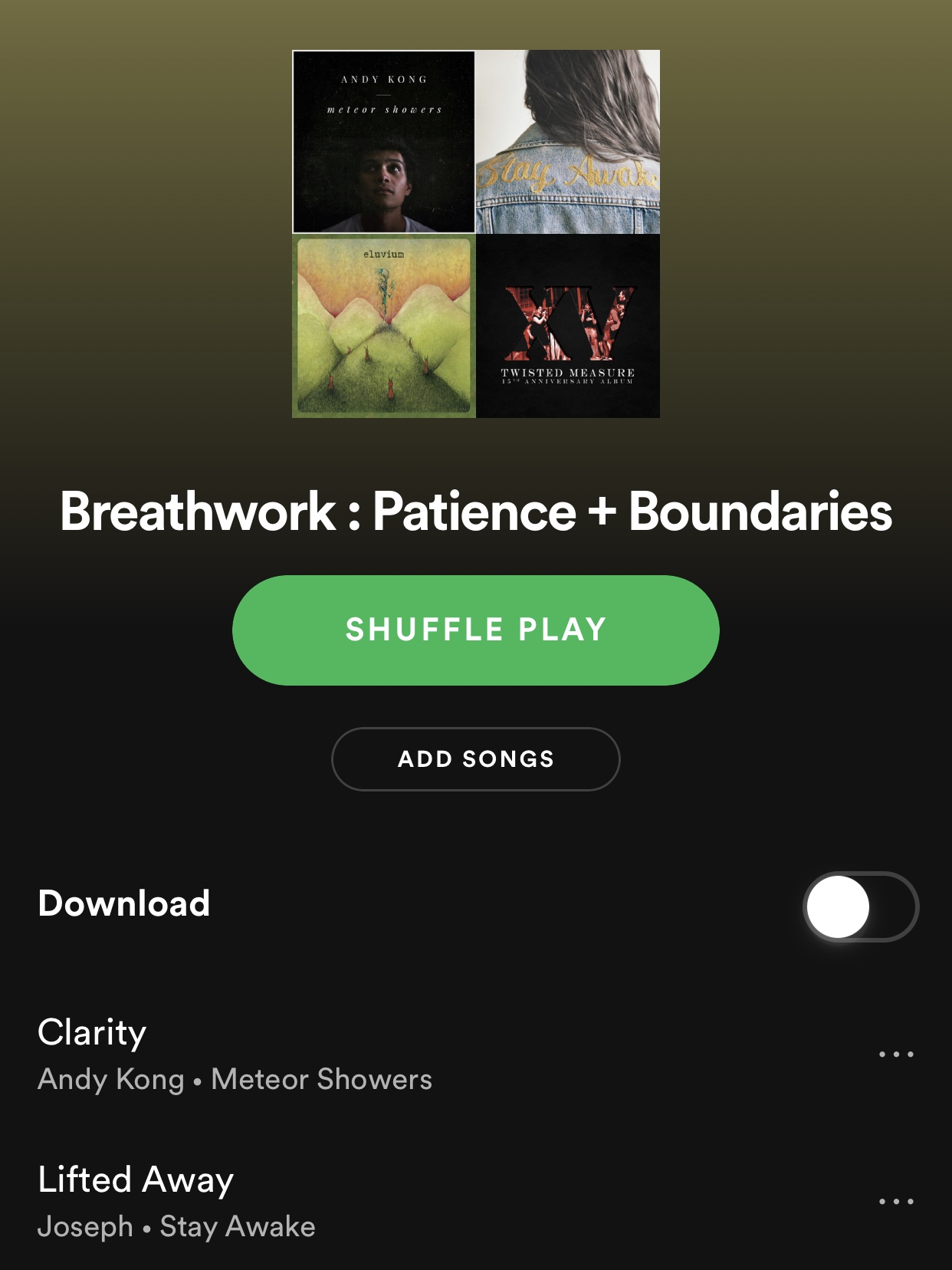 Spotify Playlist: Patience & Boundaries