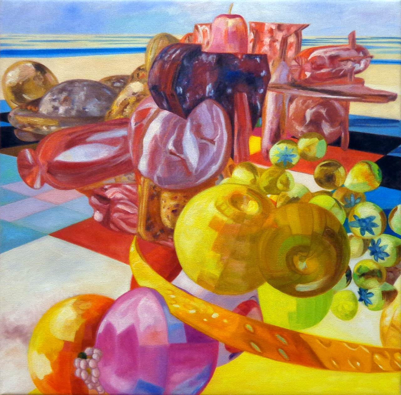 Still Life with Fruit, Meat and Excrement, 2014