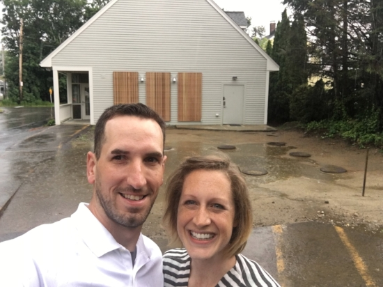 This is us on the day we signed our lease!