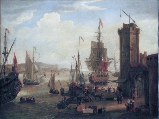 16th Century Trading Ships at Port