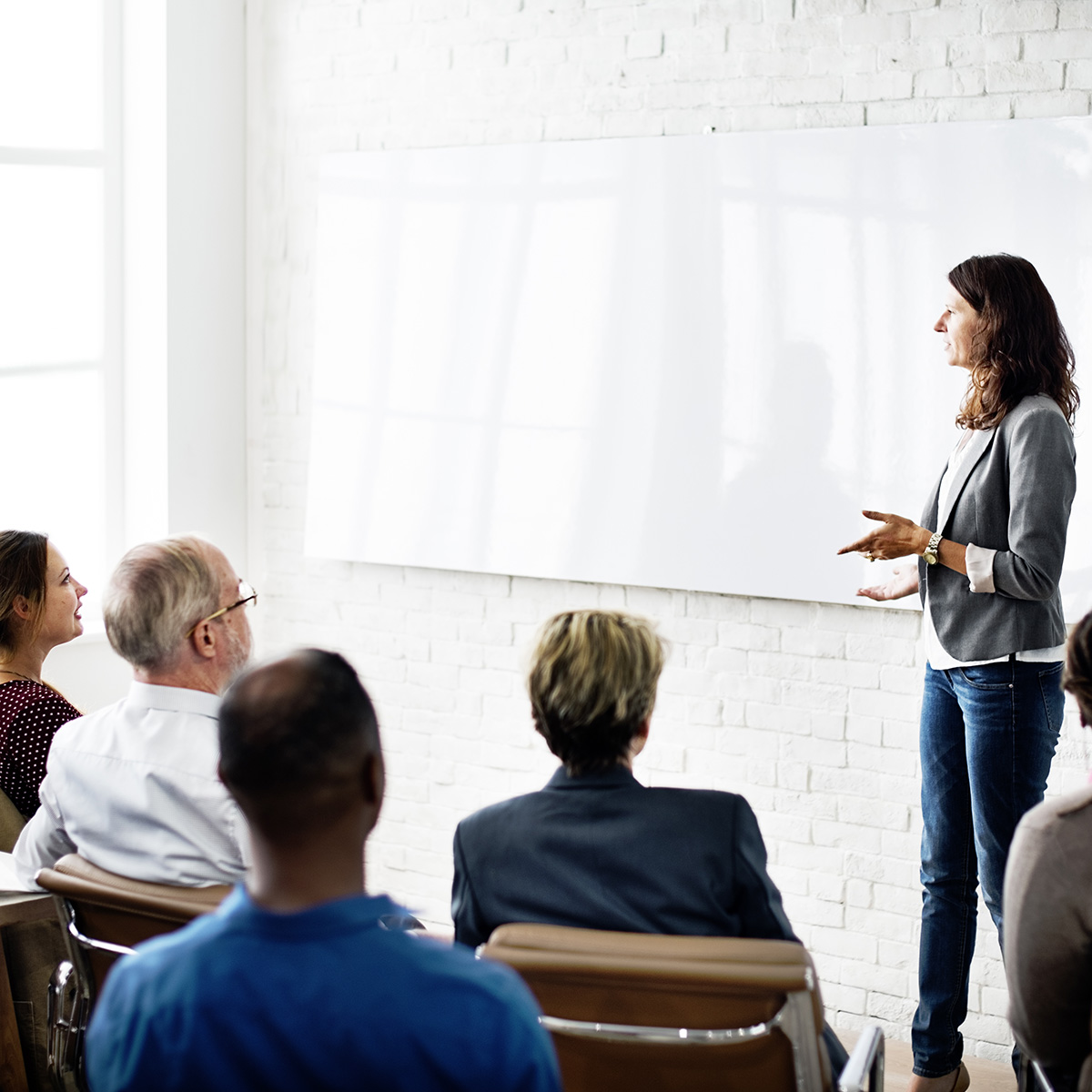 Host your next meeting, conference, retreat, or training in our AV equipped space.