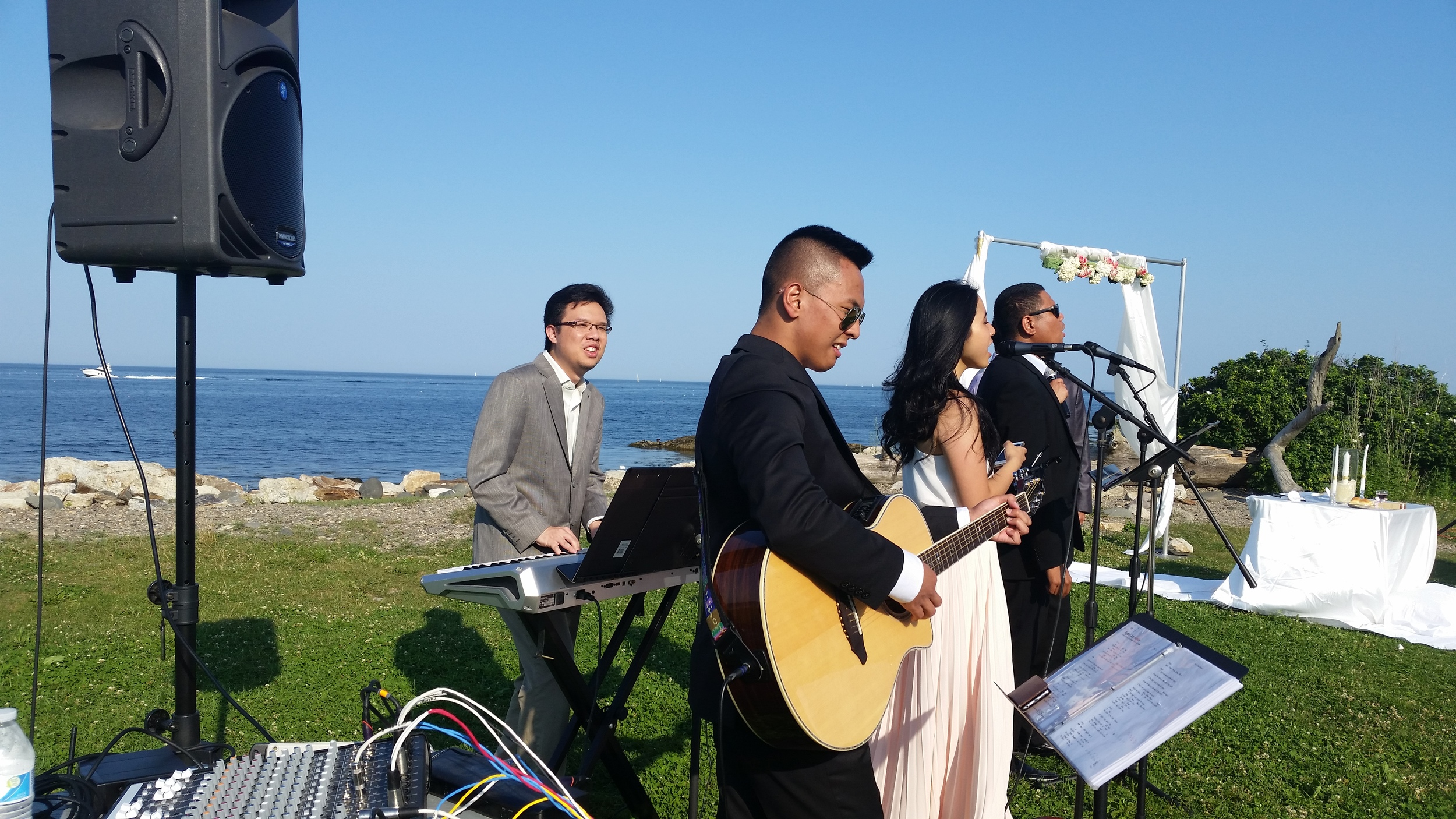 Played wedding gig  with Boston Collaborative Musicians at Seacoast Science Center, Rye, NH.