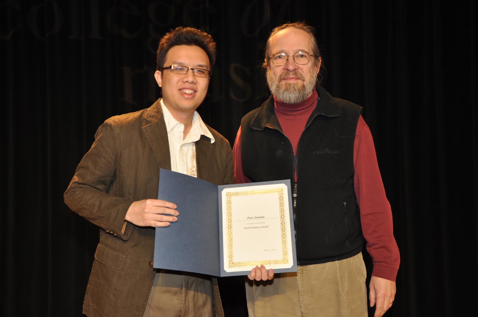 Me & Ken Pulig - Herb Pomeroy Award (2011)