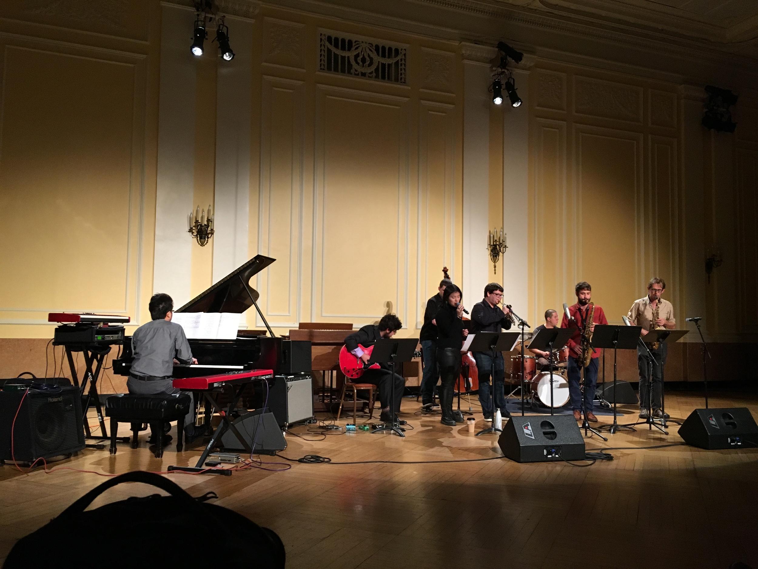 NEC Jazz Ensemble, at New England Conservatory Pierce Hall