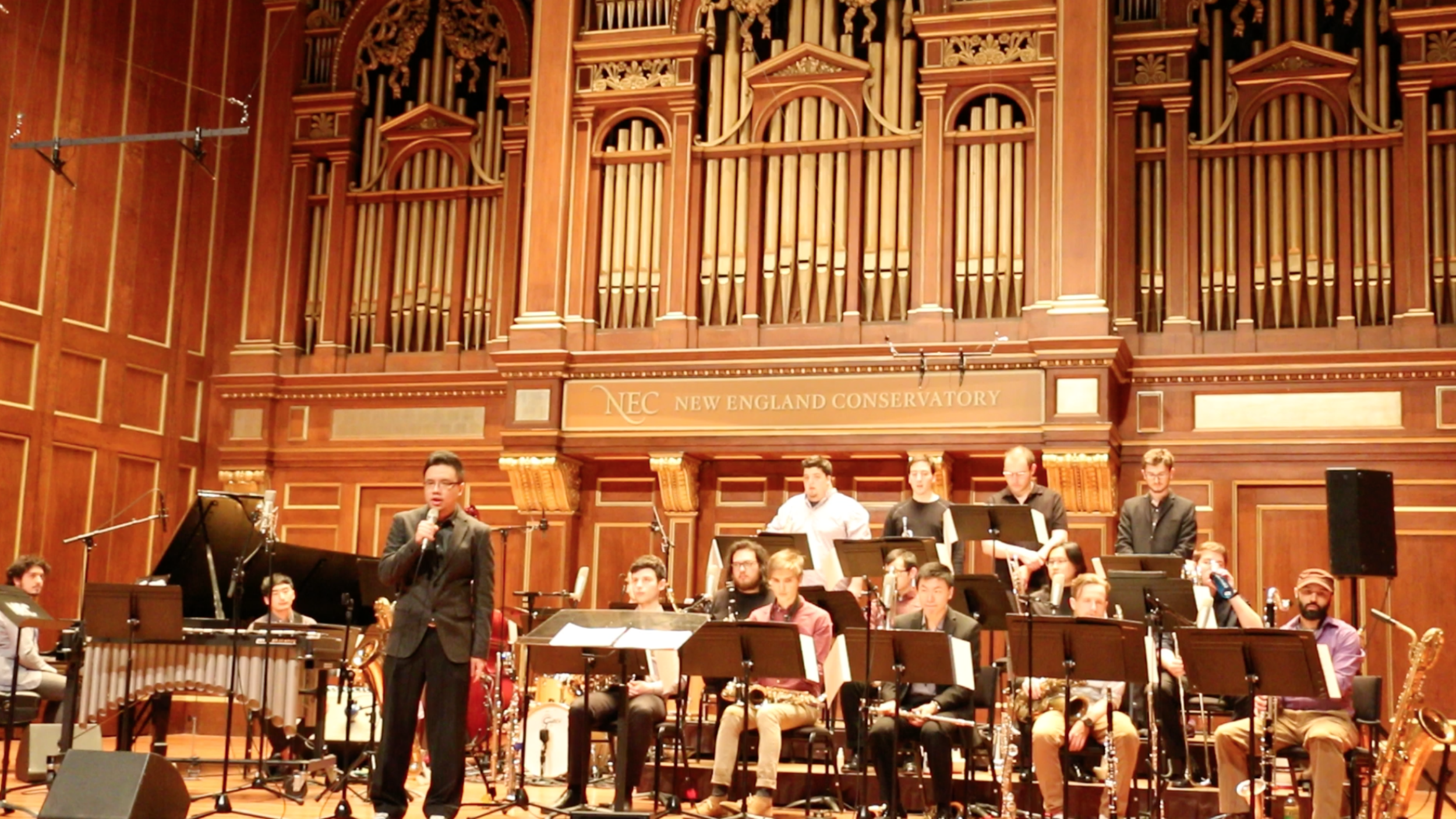 """Conducted my original composition """"Uncharted Territory"""" at NEC"""