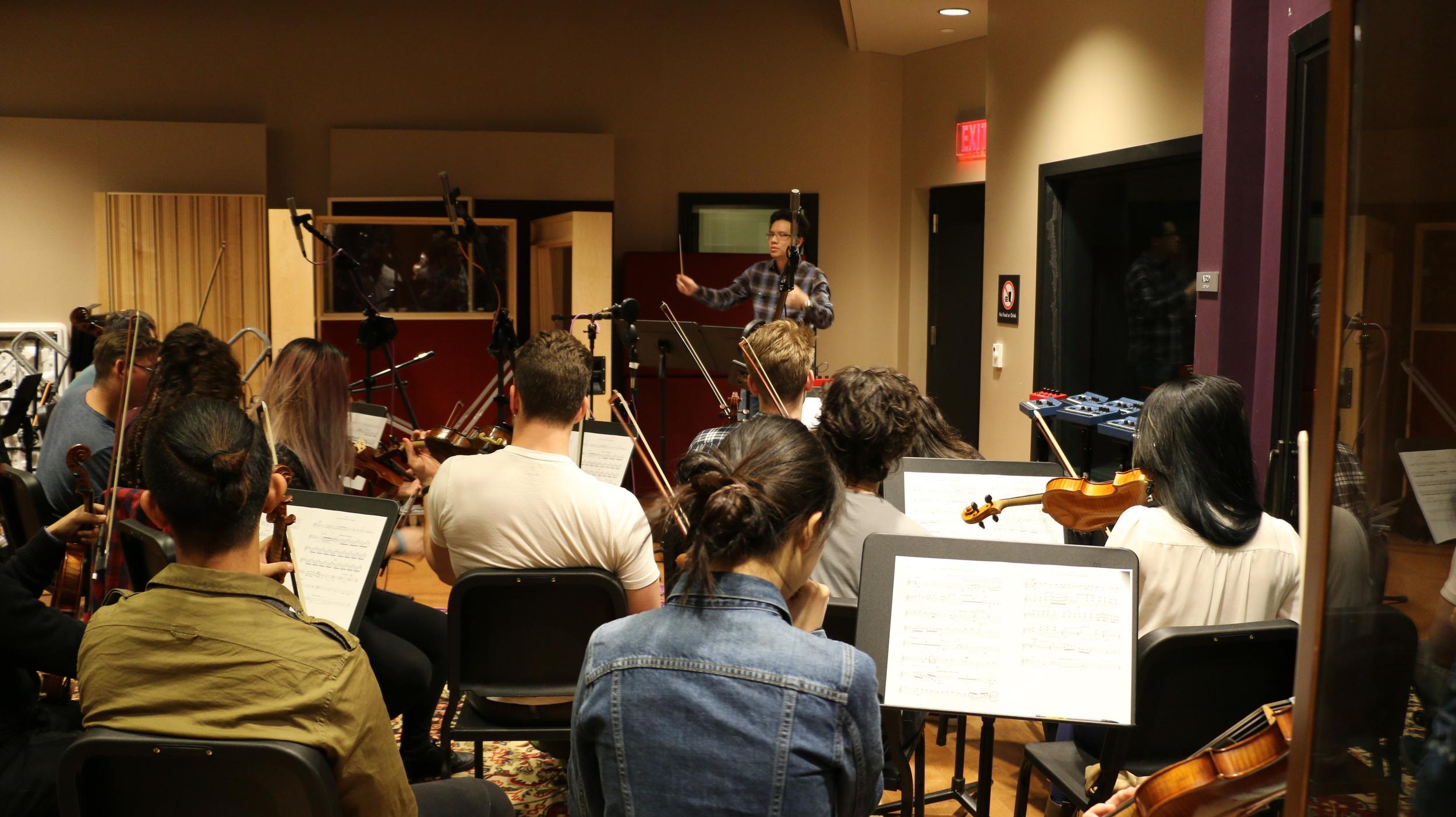 """Recorded my arrangement & recomposition of Joyful Joyful """"Joy in the Midst of Darkness"""" at Berklee Studio 2."""