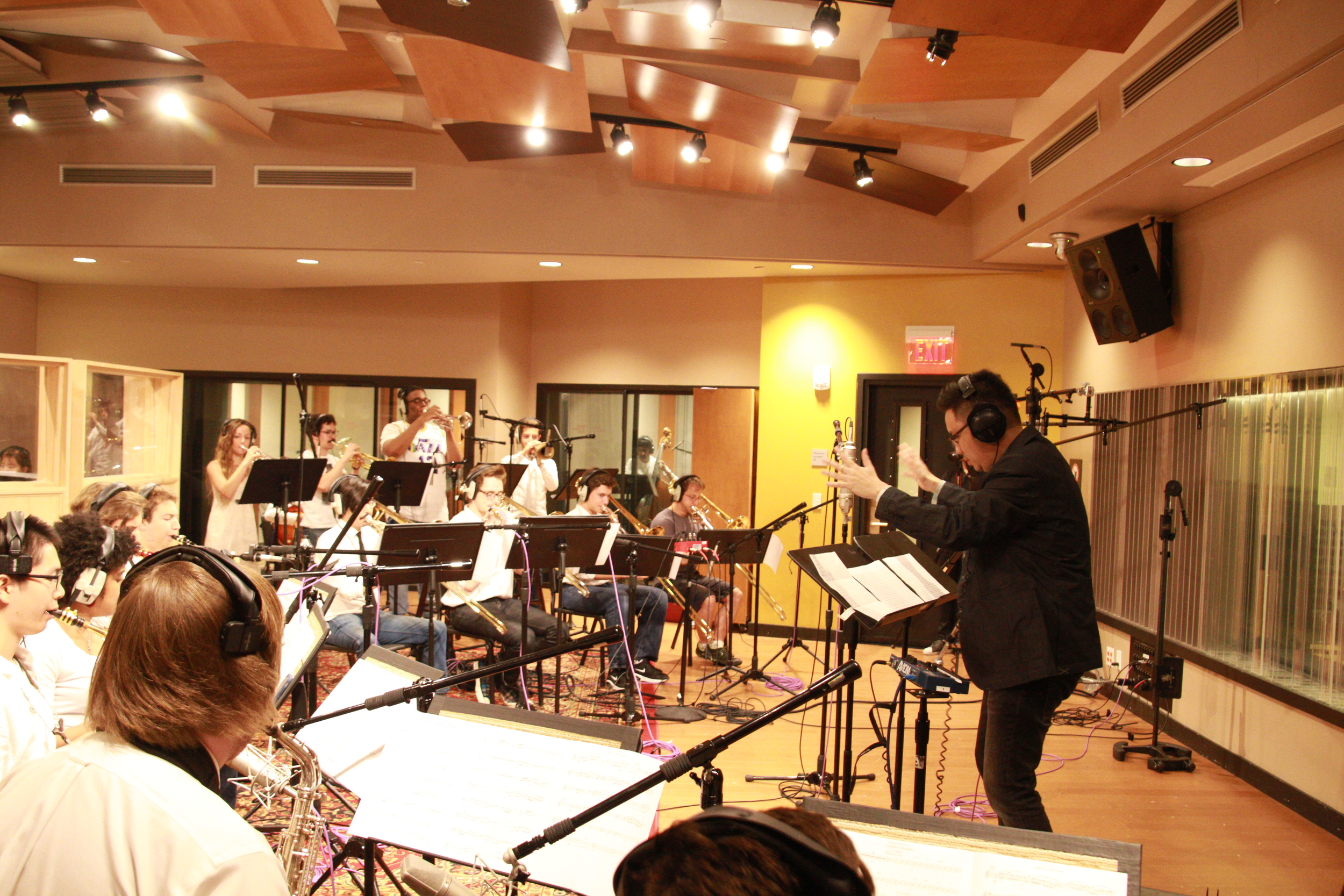 """Recorded my arrangement of """"Lullaby of Birdland"""" for Big Band."""