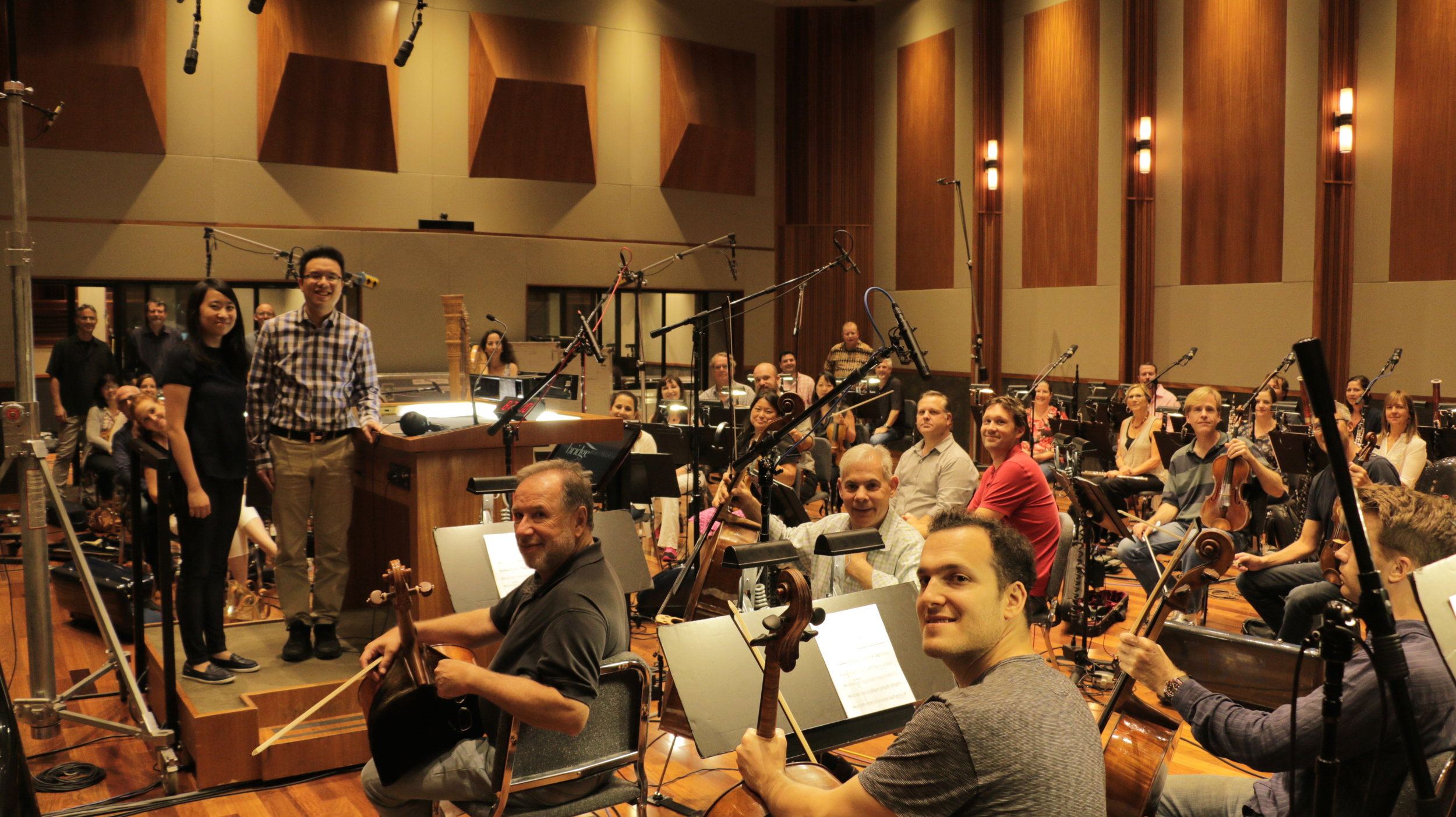 Recording at The Bridge with top notch Hollywood Musicians.