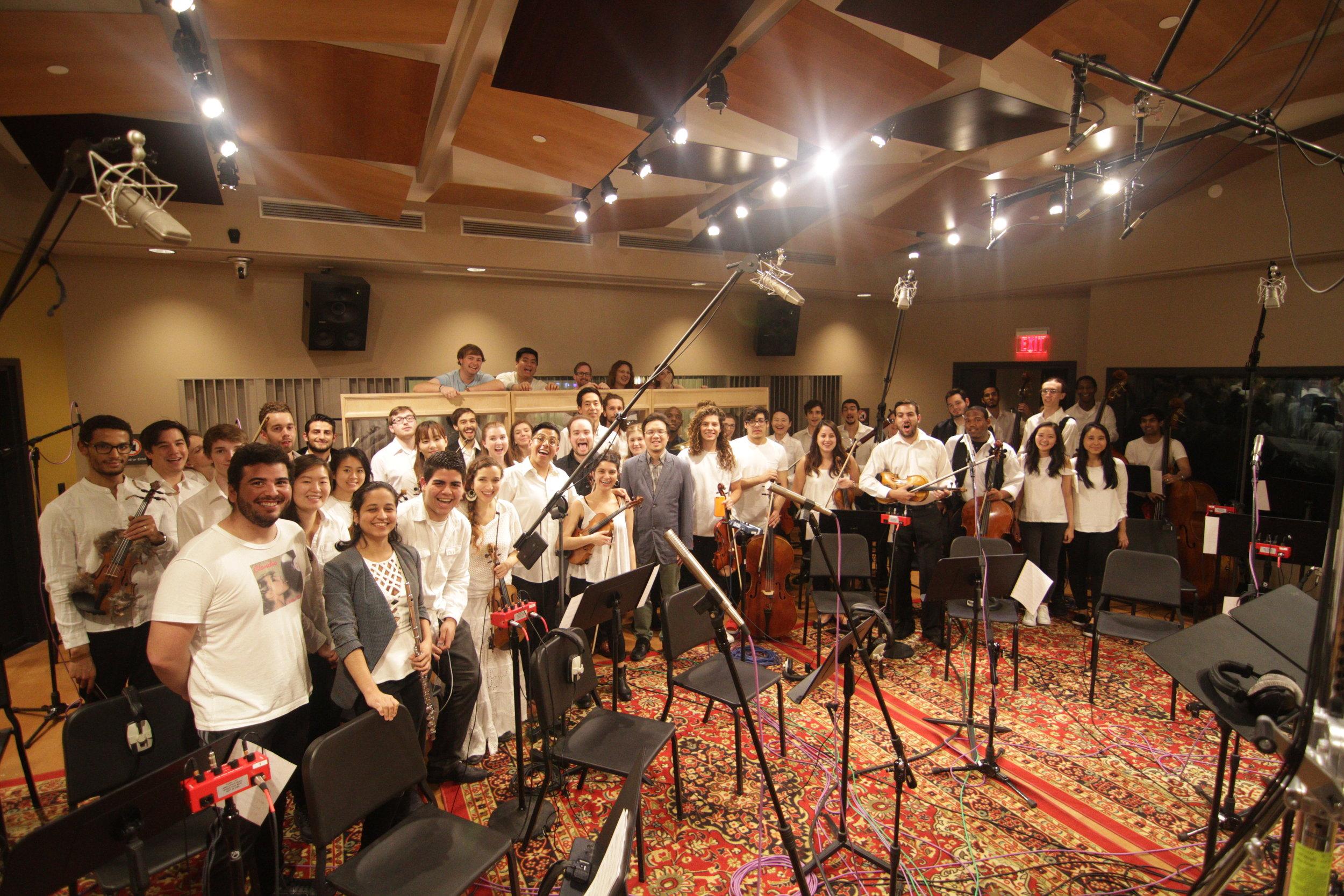 Another recording project at Berklee Studio 1